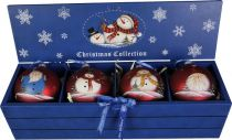LH-B11-SET/4 Набор шаров в деревянной коробке Mister Christmas (4 шт.) купить