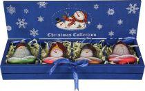 LH-B4-SET/4 Набор украшений в деревянной коробке Mister Christmas (4 шт.) купить