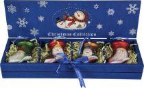 LH-B5-SET/4 Набор украшений в деревянной коробке Mister Christmas (4 шт.) купить