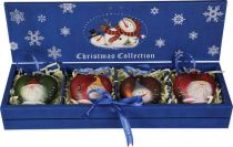 LH-B6-SET/4 Набор украшений в деревянной коробке Mister Christmas (4 шт.) купить