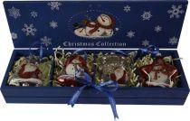 LH-B7-SET/4 Набор шаров в деревянной коробке Mister Christmas (4 шт.) купить