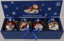 LH-B8-SET/4 Набор украшений в деревянной коробке Mister Christmas (4 шт.) купить