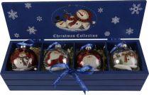 LH-B9-SET/4 Набор шаров в деревянной коробке Mister Christmas (4 шт.) купить