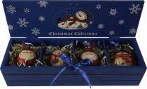 LH-F1-SET/4 Набор украшений в деревянной коробке Mister Christmas (4 шт.) купить