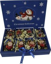 LH-F3-SET/8 Набор украшений в деревянной коробке Mister Christmas (8 шт.) купить