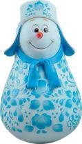 MKM-01 Неваляшка Снеговик Mister Christmas (гжель; h=11 см) купить