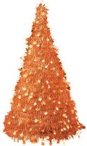 MT-14 Композиция фольгированная Елка Mister Christmas (h=1,25 м; цвет: оранжевый) купить