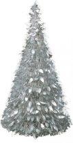 MT-2 Композиция фольгированная Елка Mister Christmas (h=1,25 м; цвет: серебряный) купить