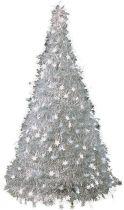 Композиция фольгированная Елка Mister Christmas (h=2,4 м; цвет: серебряный) купить