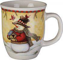 SBS-05 Кружка с изображением Снеговик Mister Christmas (h=14 см) купить