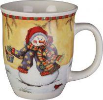 SBS-06 Кружка с изображением Снеговик Mister Christmas (h=14 см) купить