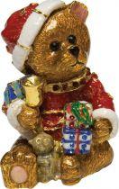 SHS-009 Шкатулка Медвежонок Mister Christmas (h=8 см; цвет: коричневый) купить