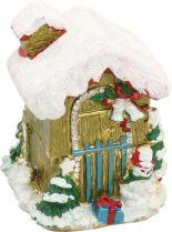 SHS-013 Шкатулка Домик Mister Christmas (h=7 см; цвет: бежевый) купить
