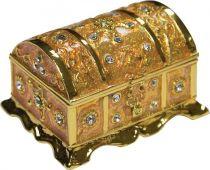 SHS-019 Шкатулка Сундучок Mister Christmas (h=4 см; цвет: золотой) купить