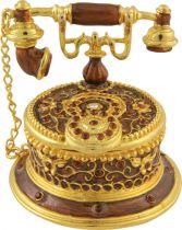 SHS-022 Шкатулка Телефон Mister Christmas (h=6 см; цвет: золотой) купить