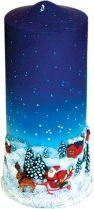 SK-109 Свеча Mister Christmas (h=18 см; цвет: синий) купить