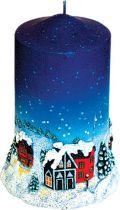 SK-110 Свеча Mister Christmas (h=13 см; цвет: синий) купить