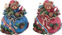 SK-400 Свеча Мешок с подарками Mister Christmas (h=11 см; цвет: в ассортименте) купить