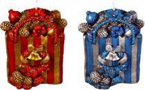 SK-401-B Свеча Пакет с подарками Mister Christmas (h=11 см; красный, синий, в ассортименте) купить