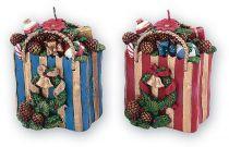 SK-401 Свеча Пакет с подарками Mister Christmas (h=11 см; цвет: в ассортименте) купить