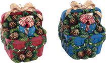 SK-402 Свеча Корзина с подарками Mister Christmas (h=11 см; цвет: в ассортименте) купить