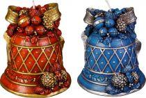SK-405-A Свеча Колокольчик Mister Christmas (h=11 см; красный, синий, в ассортименте) купить