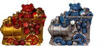 SK-406-B Свеча Паровоз Mister Christmas (h=11 см; красный, синий, в ассортименте) купить