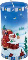 SK-410 Свеча Дед Мороз Mister Christmas (h=15 см; цвет: синий) купить