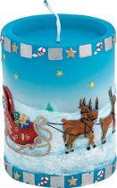 SK-412 Свеча Упряжка Mister Christmas (h=10 см; цвет: синий) купить