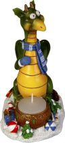 SKPS-2012-B Подсвечник Дракон с синим шарфом Mister Christmas купить