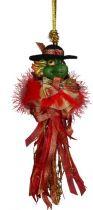 SRB-2012/09 Украшение Дракон Mister Christmas (h=20 см; зеленый, красно-золотой) купить