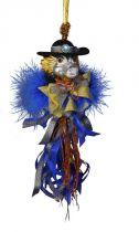 SRB-2012/10 Украшение Дракон Mister Christmas (h=20 см; серебряный, сине-золотой) купить