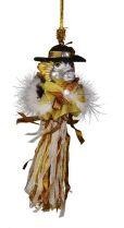 SRB-2012/11 Украшение Дракон Mister Christmas (h=20 см; серебряный, бело-золотой) купить