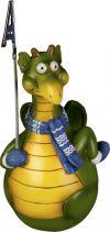 SWN-2012-B Неваляшка-держатель для бумаги Дракон с синим шарфом Mister Christmas купить