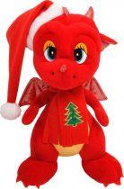 TA-2012/1 Мягкая игрушка Дракон Mister Christmas (h=29 см; цвет: красный) купить