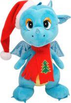 TA-2012/2 Мягкая игрушка Дракон Mister Christmas (h=29 см; цвет: синий) купить