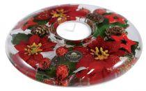 TRAUM-0134 Подсвечник Красные звезды Mister Christmas (d=15 см; h=5 см) купить