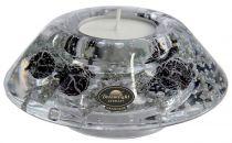 TRAUM-3935 Подсвечник Серебряная ночь Mister Christmas (d=11 см; h=5 см) купить