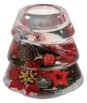 TRAUM-6234 Подсвечник Красные звезды Mister Christmas (d=9 см; h=10 см) купить