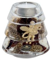TRAUM-6238 Подсвечник Золотые ангелы Mister Christmas (d=9 см; h=10 см) купить
