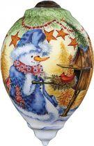 US 328-SN-MP Украшение Снеговик Mister Christmas (h=14 см) купить