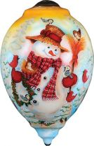 US 446-SN-JH Украшение Снеговик Mister Christmas (h=14 см) купить