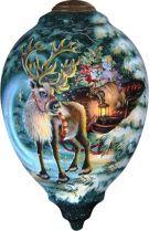 US 692-WI-DG Украшение Северный олень Mister Christmas (h=14 см) купить