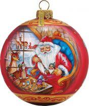 US 73611 Новогодний сувенир Шар Mister Christmas (d=9 см) купить