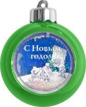 WB-GR Елочный шар с рамкой Mister Christmas (d=80 мм, цвет: зеленый) купить