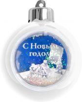 WB-W Елочный шар с рамкой Mister Christmas (d=80 мм, цвет: белый) купить