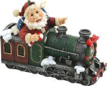 XCE-015 Копилка Дед Мороз на паровозе Mister Christmas (l=22 см) купить