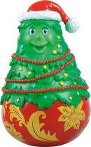 XKM-03 Неваляшка Ёлка Mister Christmas (хохлома; цвет: красный, золотой; h=11 см) купить
