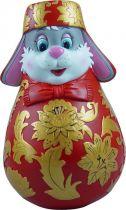ZKM-03 Матрешка Mister Christmas (хохлома; цвет: красный, золотой; h=11 см) купить