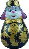 ZKM-04 Матрешка Mister Christmas (хохлома; цвет: черный, золотой; h=11 см) купить